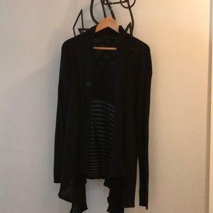 Daisy Fuentes Loose-Knit Black Cardigan XL